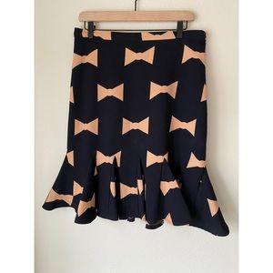 anthropologie eva franco bow  skirt